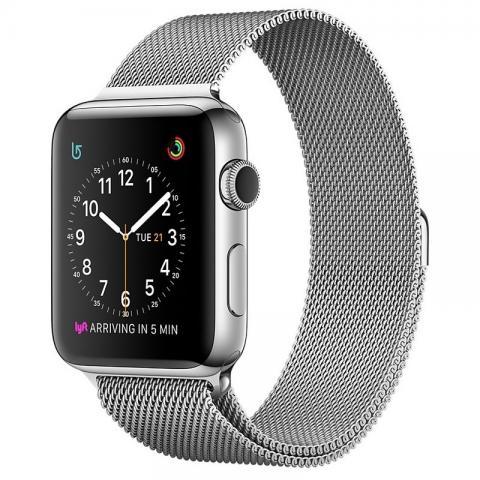 Ремешок Milanese Loop для Apple Watch 42/44 - Silver