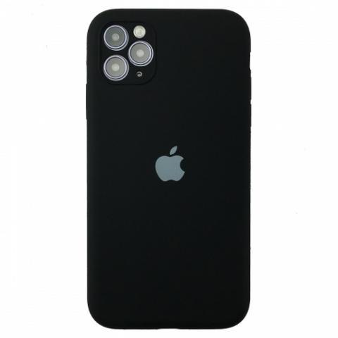 Чехол Silicone Case Full Camera для iPnone 11 Pro Max - Black