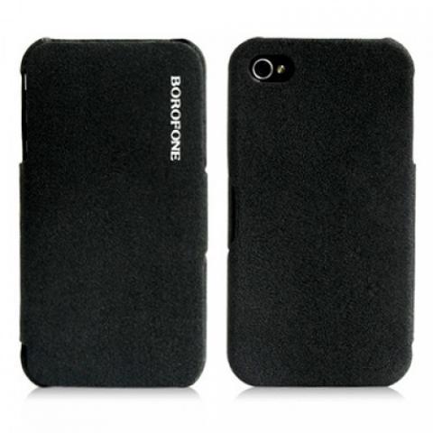 Чехол Borofone Pilot Leather Case для iPhone 4/4s - черный