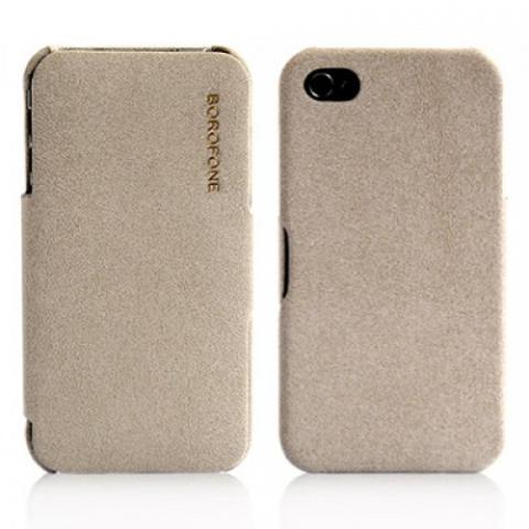 Чехол Borofone Pilot Leather Case для iPhone 4/4s - серый