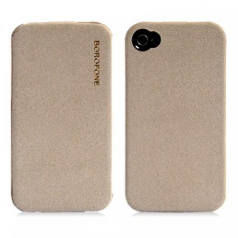 Чехол Borofone Explorer Leather Case для iPhone 4/4s - серый