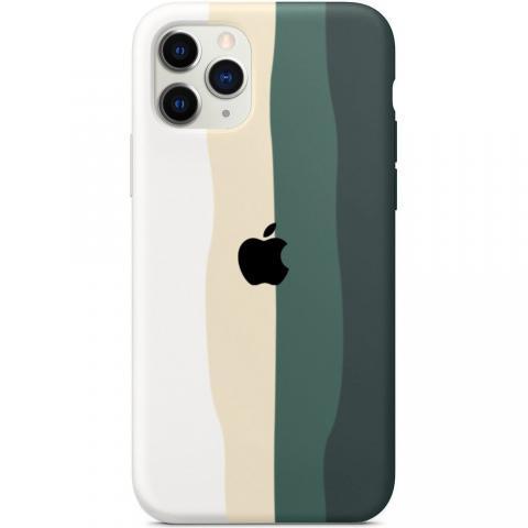 Чехол Rainbow Case для iPhone 12 Pro Max White/Pine Green
