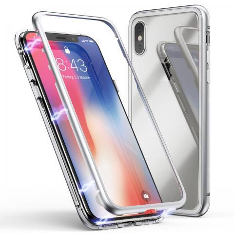 Магнитный чехол для iPhone XS Max Silver