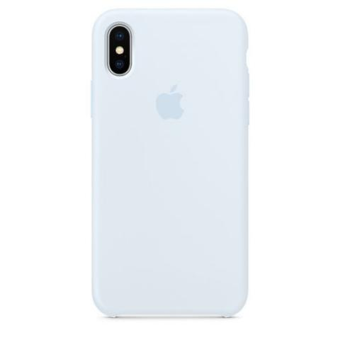 Apple Silicone Case для iPhone XS Max - Sky Blue (Hi-Copy)