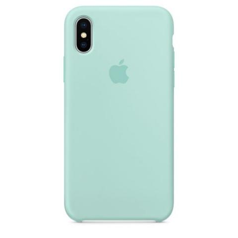 Apple Silicone Case для iPhone XS Max - Marine Green (Hi-Copy)