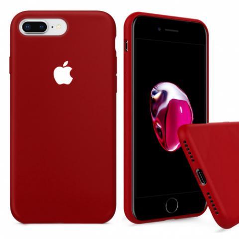 Full Silicone Case for iPhone 8 Plus/7 Plus - camellia white