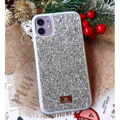Чехол Bling World Pearl Diamonds (TPU) iPhone 11 Silver