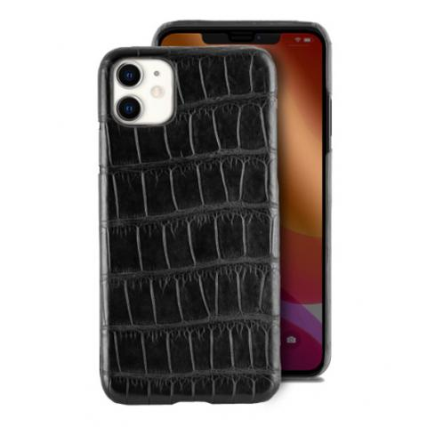 Чехол Crocodile Premium Leather Case для iPhone 11 Black