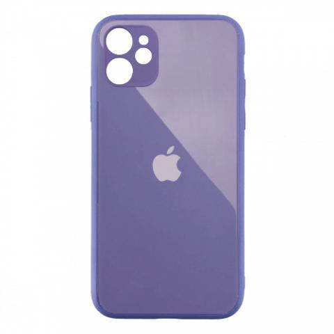 Стеклянный чехол с защитой для камеры для iPhone 11 Lavender Grey