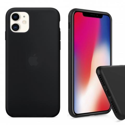 Чехол Full Silicone case для iPhone 11 - Black