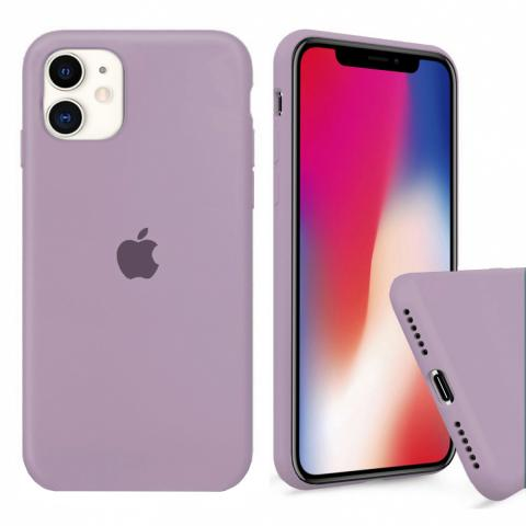 Чехол Full Silicone case для iPhone 11 - Blueberry