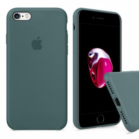 Чехол Full Silicone Case iPhone 6/6S - pine green