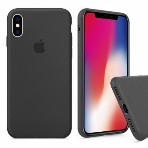 Чехол Full Silicone case для iPhone X/XS - Dark grey