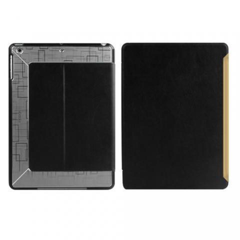 Чехол с орнаментом iBacks Flame черный + серый для iPad Air