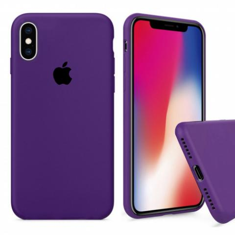 Чехол Full Silicone case для iPhone X/XS - Purple