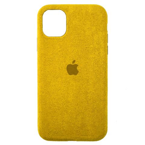 Чехол Alcantara для iPhone 12 Pro Max - Yellow