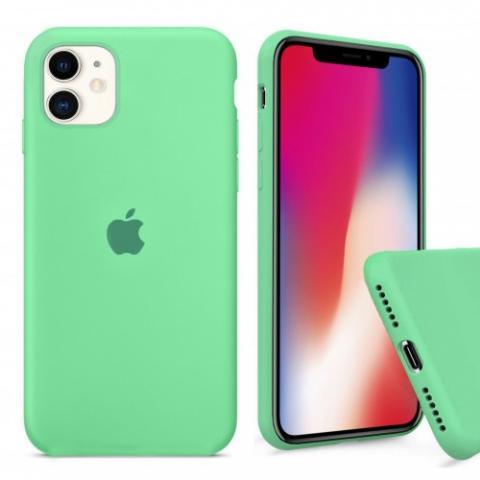Чехол Full Silicone case для iPhone 11 - Spearmint