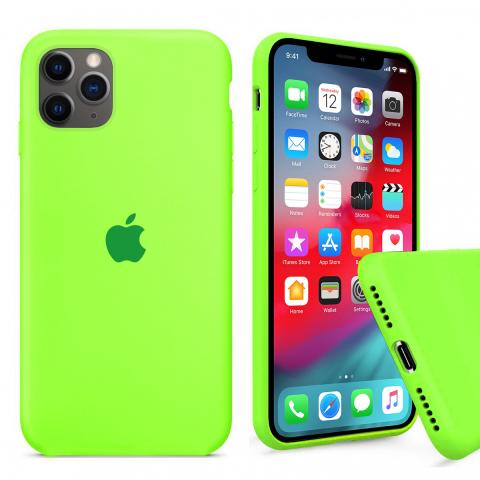 Чехол Full Silicone case для iPhone 11 Pro Max - Party green