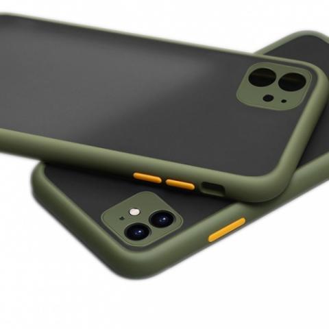 Противоударный чехол HULK с защитой для камеры для iPhone 11 - Khaki/Yellow