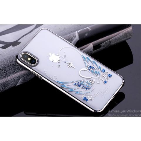 Чехол-накладка Kingxbar Swarovski Swan Series для iPhone X Silver