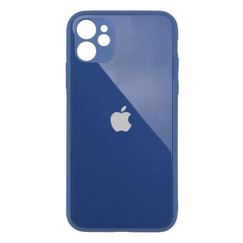 Стеклянный чехол с защитой для камеры для iPhone 11 Midnight Blue