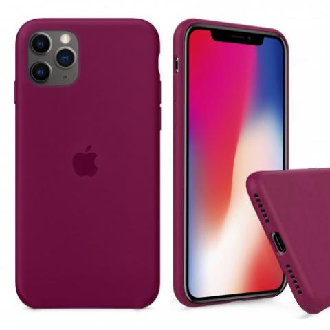 Чехол Full Silicone case для iPhone 11 Pro Max - Beaujolais