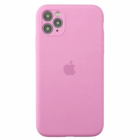 Чехол Silicone Case Full Camera для iPnone 11 Pro Max - Pink