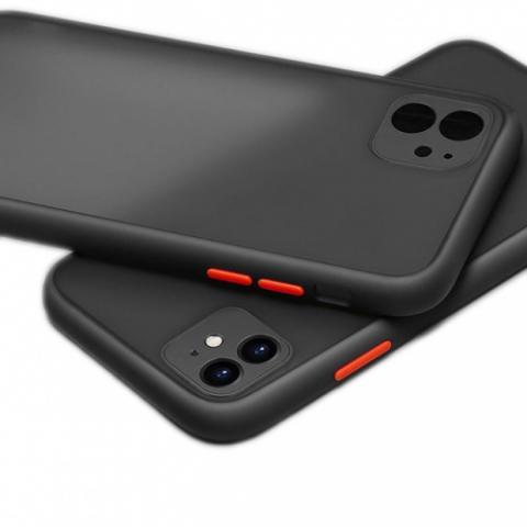 Противоударный чехол HULK с защитой для камеры для iPhone 11 - Black/Red