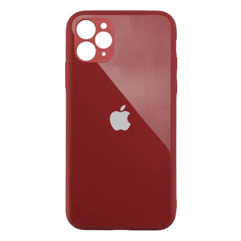 Стеклянный чехол с защитой для камеры для iPhone 11 Pro Red