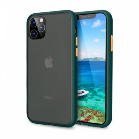 Противоударный чехол AVENGER для iPhone 12 Pro Max - Forest Green/Orange