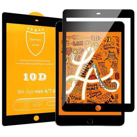 Защитное стекло 10D для iPad mini 4 - Black