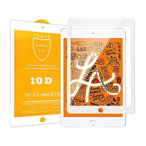 Защитное стекло 10D для iPad mini 4 - White