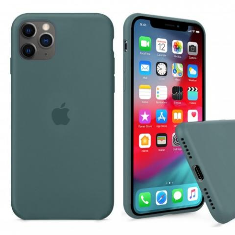 Чехол Full Silicone case для iPhone 11 Pro Max - Pine Green