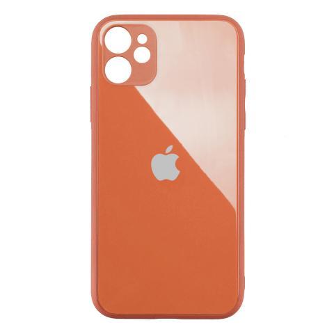 Стеклянный чехол с защитой для камеры для iPhone 11 Orange
