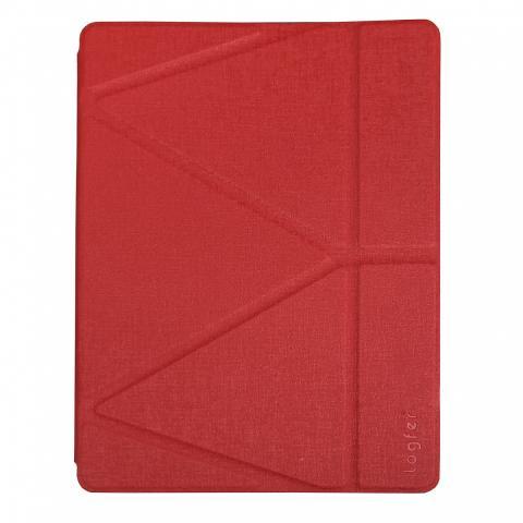 Чехол Logfer с держателем для стилуса для iPad Air - красный