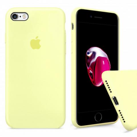 Чехол Full Silicone Case iPhone 6/6S - mellow yellow
