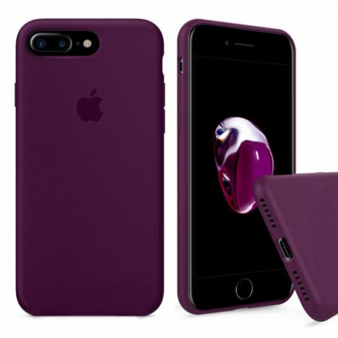 Full Silicone Case for iPhone 8 Plus/7 Plus - marsala