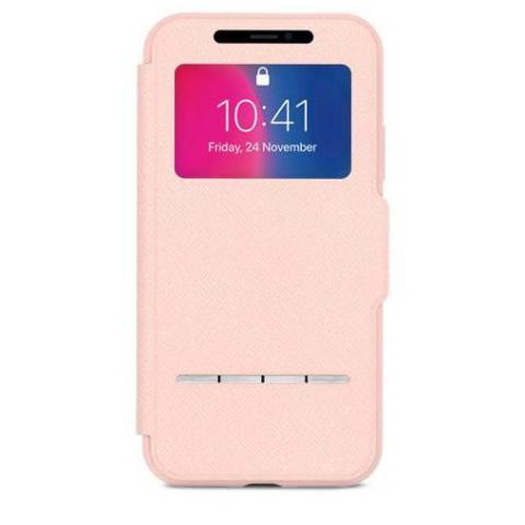 Чехол-книжка Moshi Senseсover для Apple iPhone X розовый