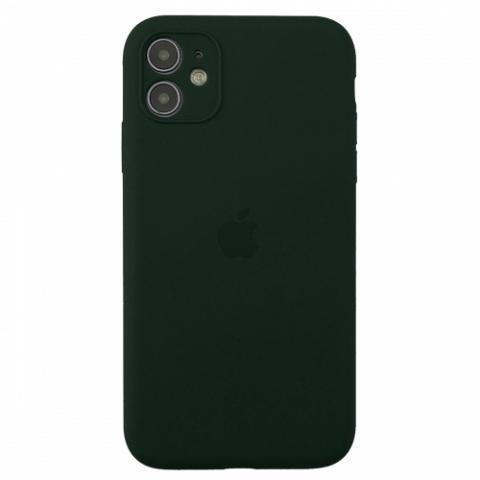 Чехол Silicone Case Full Camera для iPnone 11 - Forest Green