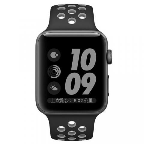 Ремешок Coteetci W12 Nike серый + чёрный для Apple Watch 38/40mm