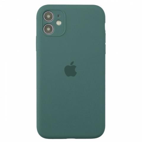 Чехол Silicone Case Full Camera для iPnone 11 - Pine Green