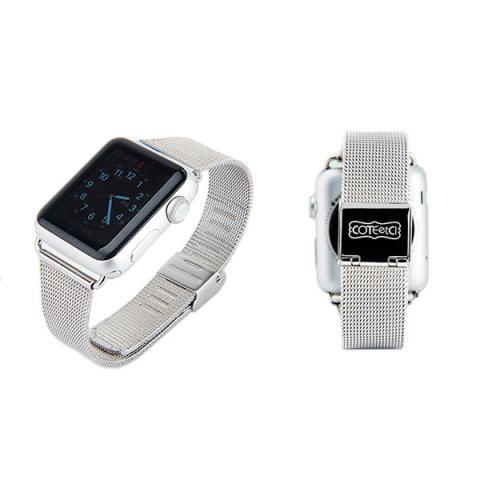Ремешок для Apple Watch 42/44мм - Coteetci W2 серебристый
