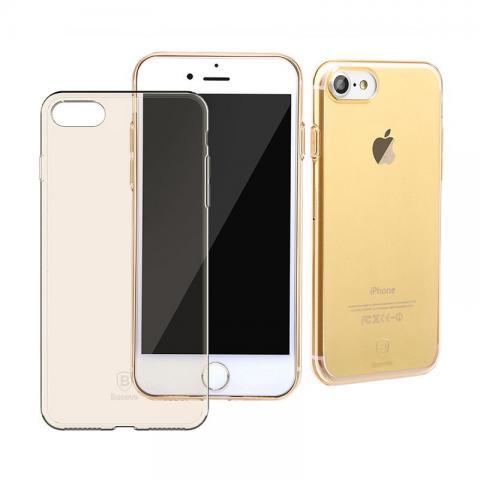 Чехол-накладка для Apple iPhone 7 Baseus Simple - Gold