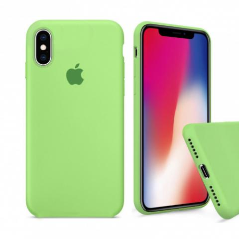 Чехол Full Silicone case для iPhone X/XS - Green