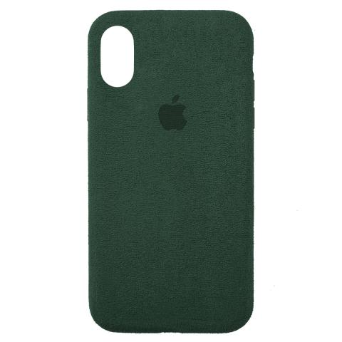 Чехол ALCANTARA для iPhone X/XS Forest Green