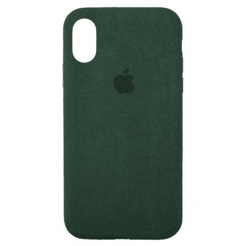 Чехол ALCANTARA для iPhone XR Forest Green