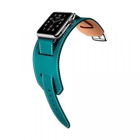 Ремешок для Apple Watch 38/40мм - Coteetci W10 Hermes голубой