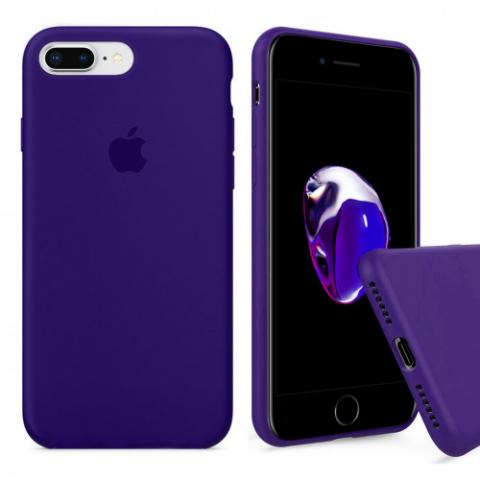 Full Silicone Case for iPhone 8 Plus/7 Plus - Ultraviolet