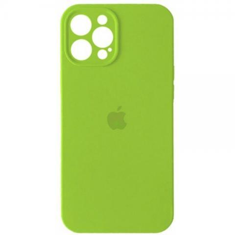 Силиконовый чехол с защитой для камеры для iPhone 12 Pro Max - Party Green