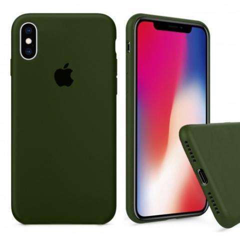 Чехол Full Silicone case для iPhone X/XS - Virid